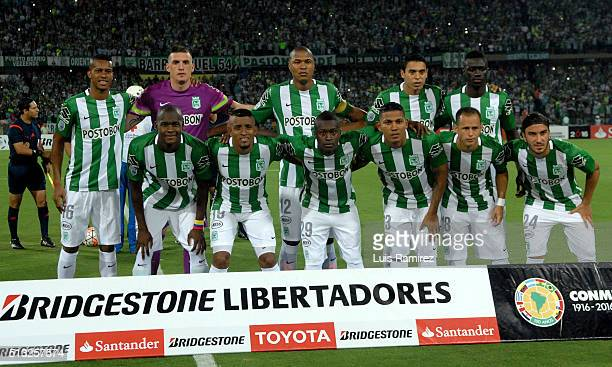 Players of Atletico Nacional pose for a photo prior a group stage match between Atletico Nacional and Sporting Cristal as part of Copa Libertadores...