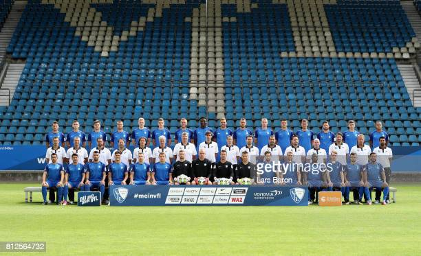 Players of Bochum pose for a picture during the team presentation at Vonovia Ruhrstadion on July 11 2017 in Bochum Germany