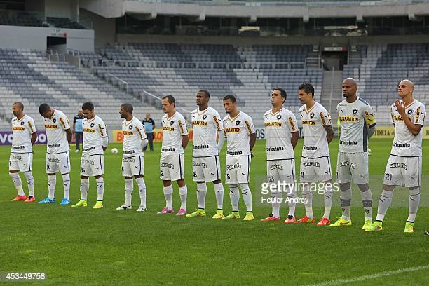 Players of Botafogo during the match between AtleticoPR and Botafogo for the Brazilian Series A 2014 at Arena da Baixada on August 10 2014 in...