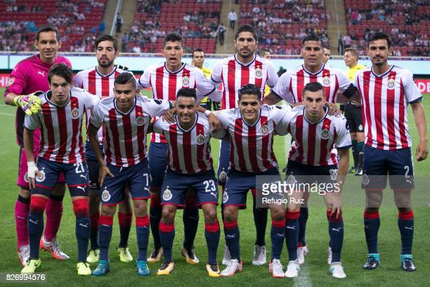 Players of Chivas pose for a photo prior a third round match between Chivas and Necaxa as part of the Torneo Apertura 2017 Liga MX at Chivas Stadium...
