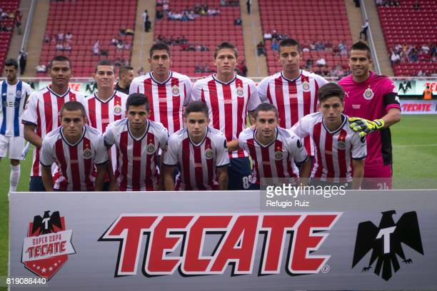 Players of Chivas pose for photos prior the friendly match between Chivas and Porto at Chivas Stadium on July 19 2017 in Zapopan Mexico
