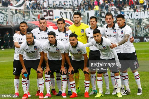 Players of Colo Colo pose for a photo prior a match between Colo Colo and Deportes Antofagasta as part of Torneo Clausura 20162017 at Monumental...