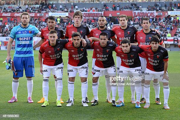 Players of Colon pose for a photo prior to a match between River Plate and Colon as part of 18th of Torneo Primera Division 2015 at Monumental...