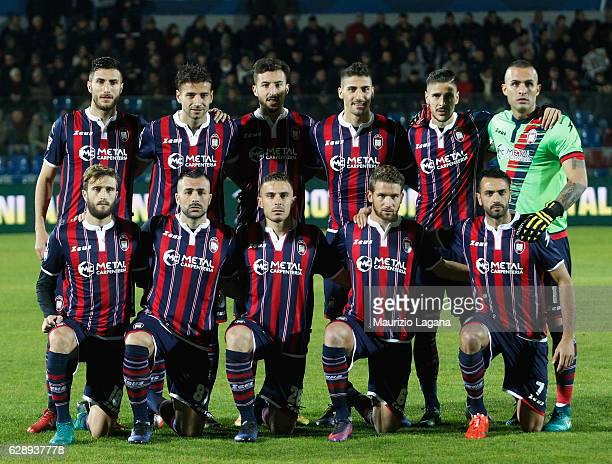 Players of Crotone pose for photo prior the Serie A match between FC Crotone and Pescara Calcio at Stadio Comunale Ezio Scida on December 10 2016 in...