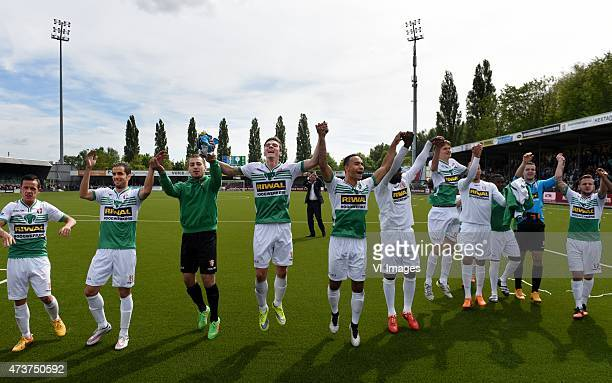 Players of FC Dordrecht during the Dutch Eredivisie match between FC Dordrecht and Ajax Amsterdam at the Riwal Hoogwerkers Stadium on May 17 2015 in...