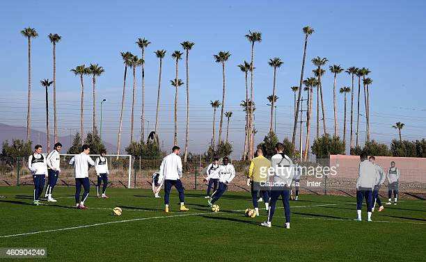 Players of FC Internazionale during Training Session at Le Grand Stade de Marrakech on December 29 2014 in Marrakech Morocco