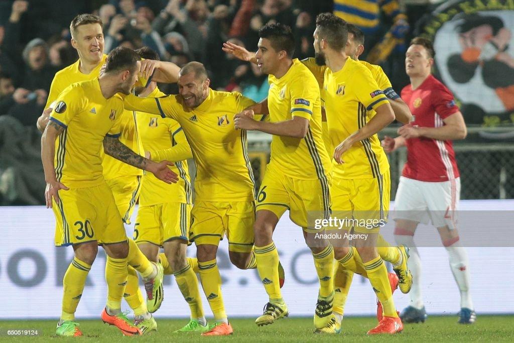 FC Rostov vs Manchester United - UEFA Europa League : News Photo