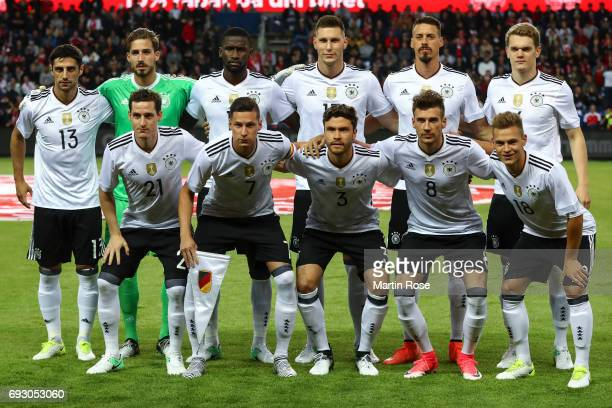 Players of Germany pose for a team photo prior the international friendly match between Denmark v Germany on June 6 2017 in Brondby Denmark
