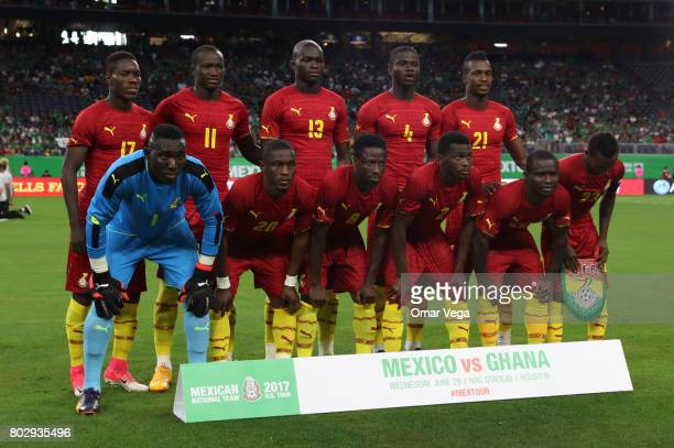 Players of Ghana pose prior to the friendly match between Mexico and Ghana at NRG Stadium on June 28 2017 in Houston Texas