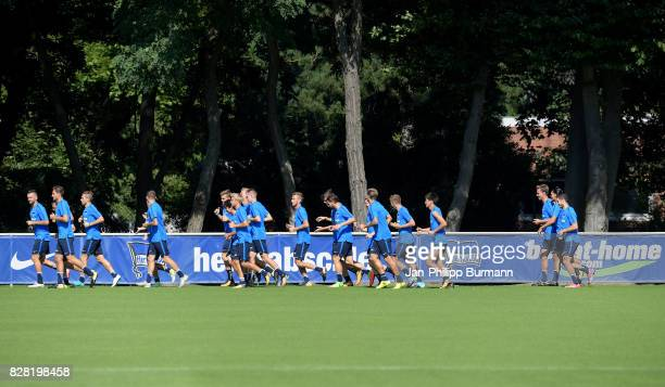 players of Hertha BSC during the training on august 9 2017 in Berlin Germany