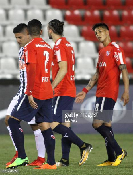Players of Independiente look dejected after losing a first leg match between Libertad and Independiente as part of the semifinals of Copa CONMEBOL...