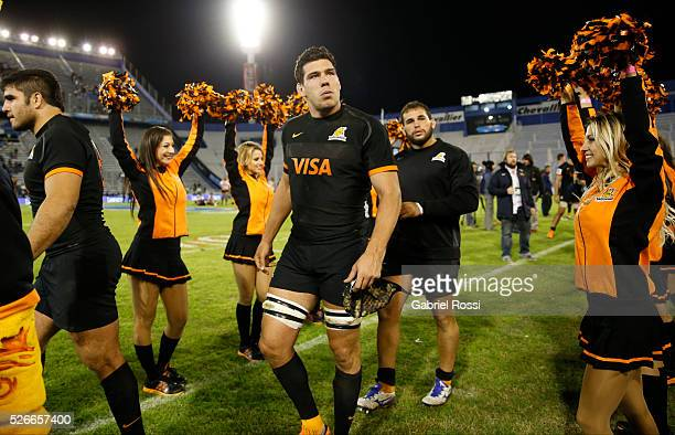 Players of Jaguares walk off the field after winning the match between Jaguares and Kings as part of Super Rugby 2016 6 at Jose Amalfitani Stadium on...