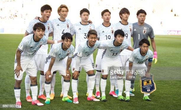 Players of Japan pose for a picture during the FIFA U20 World Cup Korea Republic 2017 group D match between South Africa and Japan at Suwon World Cup...