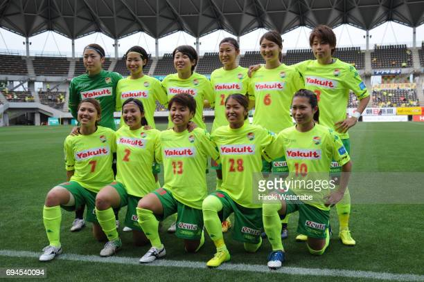 Players of JEF United Chiba Ladies pose for photographthe Nadeshiko League Cup Group A match between JEF United Chiba Ladies and AC Nagano Parceiro...