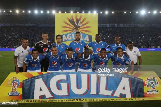 Players of Millonarios pose for a photo prior the Semi Finals first leg match between Millonarios and Atletico Nacional as part of Liga Aguila I 2017...