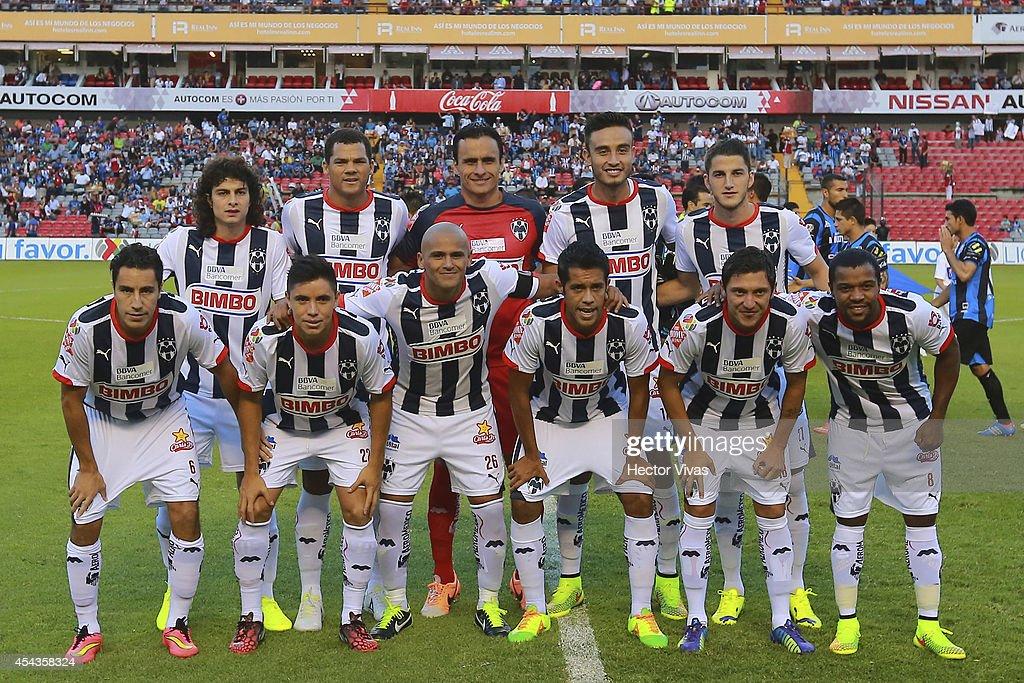 Players of Monterrey pose for a photo prior a match between Queretaro and Monterrey as part of 7th round Apertura 2014 Liga MX at Corregidora Stadium on August 29, 2014 in Queretaro, Mexico.