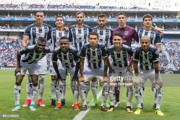Players of Monterrey pose prior the 4th round match between Monterrey and Chivas as part of the Torneo Apertura 2017 Liga MX at BBVA Bancomer Stadium...