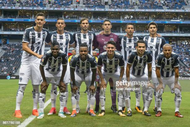 Players of Monterrey pose prior to the 13th round match between Monterrey and Pachuca as part of the Torneo Apertura 2017 Liga MX at BBVA Bancomer...