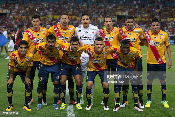 Players of Morelia pose for photos prior a match between during the 13th round match between Atlas and Morelia as part of the Clausura 2016 Liga MX...