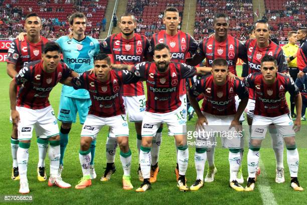 Players of Necaxa pose for a photo prior the third round match between Chivas and Necaxa as part of the Torneo Apertura 2017 Liga MX at Chivas...