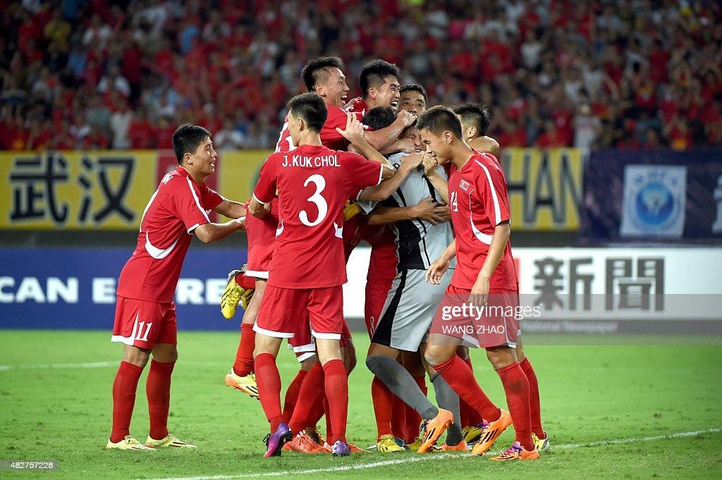 FBL-ASIA-EACUP-PRK-JPN : News Photo