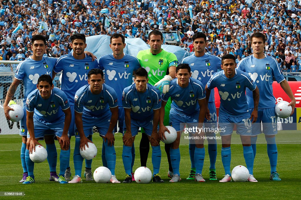 Players of O'Higgins pose for a team photo prior to a match between O'Higgins and U de Concepcion as part of Torneo Clausura 2016 at El Teniente...