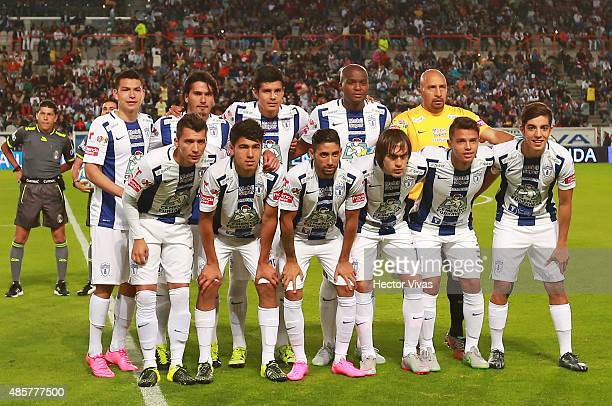 Players of Pachuca pose prior a 7th round match between Pachuca and Atlas as part of the Apertura 2015 Liga MX at Hidalgo Stadium on August 29 2015...