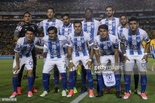 Players of Pachuca pose prior the Final first leg match between Tigres UANL and Pachuca as part of the CONCACAF Champions League 2016/17 at...