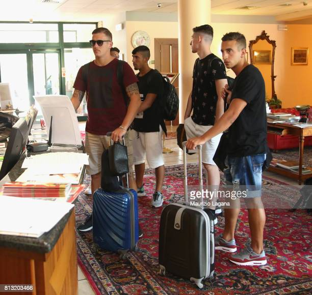 Players of Palermo arrive at the hotel on July 12 2017 in Gradisca d'Isonzo Italy