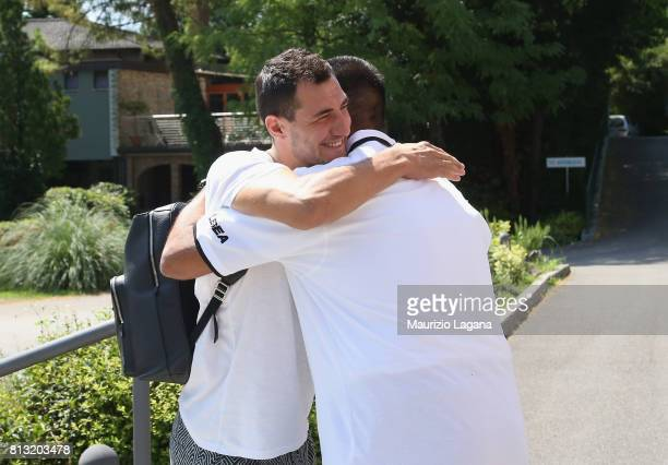 Players of Palermo arrive in Hotel on July 12 2017 in Gradisca d'Isonzo Italy