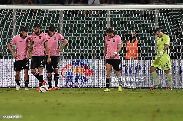 Players of Palermo of Palermo show their dejection after substaining Sampdoria equalizing goal the Serie A match between US Citta di Palermo and UC...