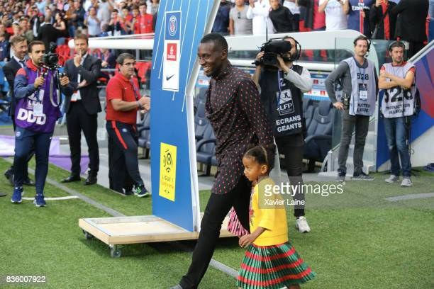 Players of Paris SaintGermain and fans celebrate the departure of Blaise Matuidi at Juventus in Turin before the French Ligue 1 match between Paris...