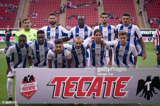 Players of Porto pose for photos prior the friendly match between Chivas and Porto at Chivas Stadium on July 19 2017 in Zapopan Mexico