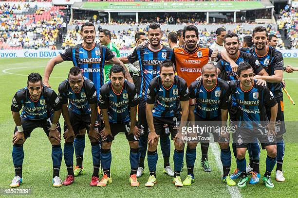 Players of Queretaro pose for pictures before a match between America and Queretaro as part of the 16th round Clausura 2014 Liga MX at Azteca Stadium...