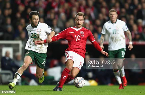 Players of Republic of Ireland pose for a team photo during the FIFA 2018 World Cup Qualifier PlayOff First Leg between Denmark and Republic of...