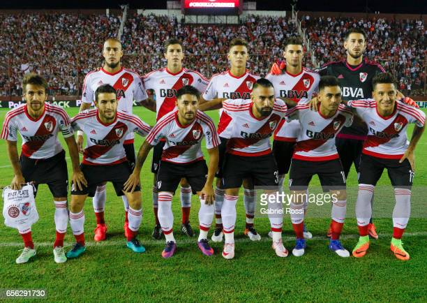 Players of River Plate pose for a photo prior the match between Lanus and River Plate as part of Torneo Primera Division 2016/17 at Ciudad de Lanus...