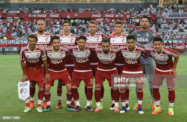 Players of River Plate pose for a photo prior to the first during a match between River Plate and Belgrano as part of Torneo Primera Division 2016/17...