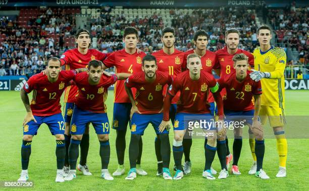 Players of Spain before the UEFA U21 Final match between Germany and Spain at Krakow Stadium on June 30 2017 in Krakow Poland