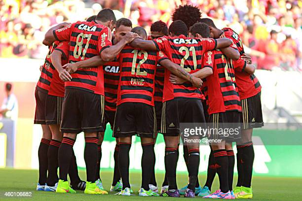 Players of Sport Recife enter into the field before a match between Sport Recife and Sao Paulo as part of Brasileirao Series A 2014 at Arena...