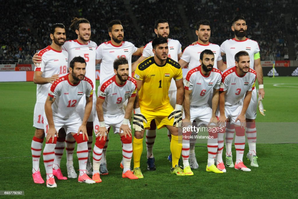 All National Teams PES 2013 - Page 2 Players-of-syria-pose-for-photograph-the-international-friendly-match-picture-id693779292