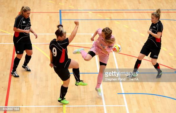 Players of Team Northumbria and Eastbourne DGH in action during the FA Futsal Cup at the Copper Box Arena on June 14 2014 in London England