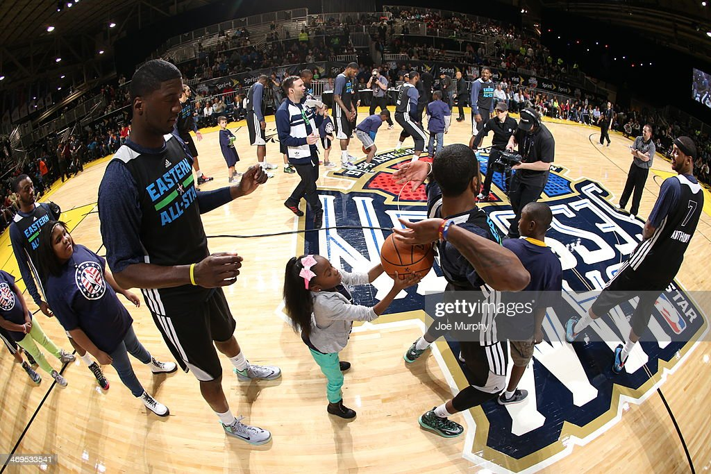 Players of the Eastern Conference All-Stars participate in a game during the NBA All-Star Practices at Sprint Arena as part of 2014 NBA All-Star Weekend at the Ernest N. Morial Convention Center on February 15, 2014 in New Orleans, Louisiana.