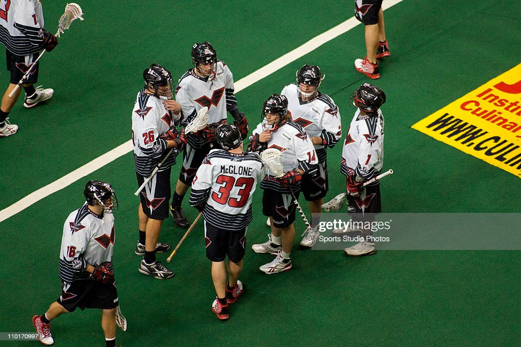 Players of the Philadelphia Wings warm up before the start of the first half of the game against the Boston Blazers on January 8, 2011 in Philadelphia, Pennsylvania. The Boston Blazers defeated the Philadelphia Wings 10-6.