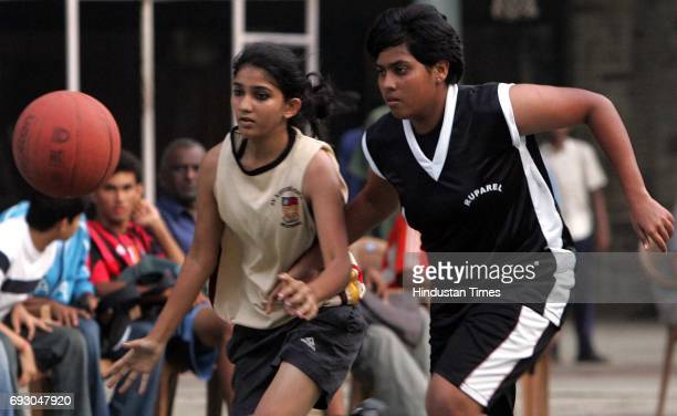 Players of the St Xavier team and D G Ruparel contest int he final oft he DSO under19 final at the Don Bosco school quadrangle on Thursday St...