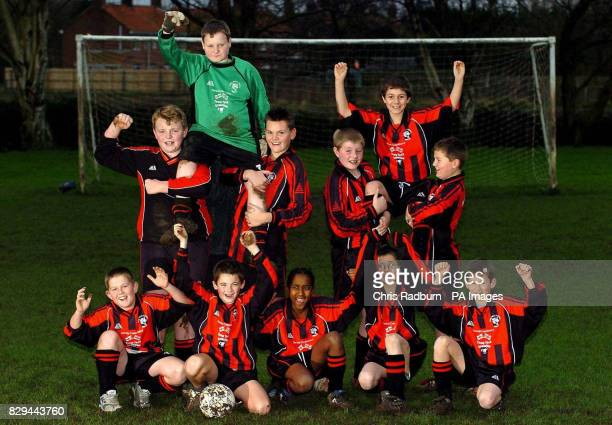 Players of the Three Holes and Upwell Under13s football team at their training ground The team has conceded 136 goals in nine games this season but...