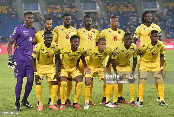 Players of Togo pose before the African Cup of Nations Group C soccer match between Morocco and Togo at the Stade d'Oyem on January 20 2017 in Oyem...