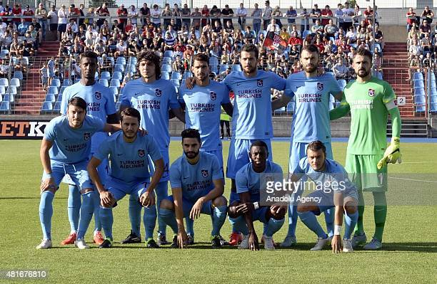 Players of Trabzonspor pose during the UEFA Europa League 2015/2016 2nd Qualifying Round return match between Differdange 03 and Trabzonspor in...