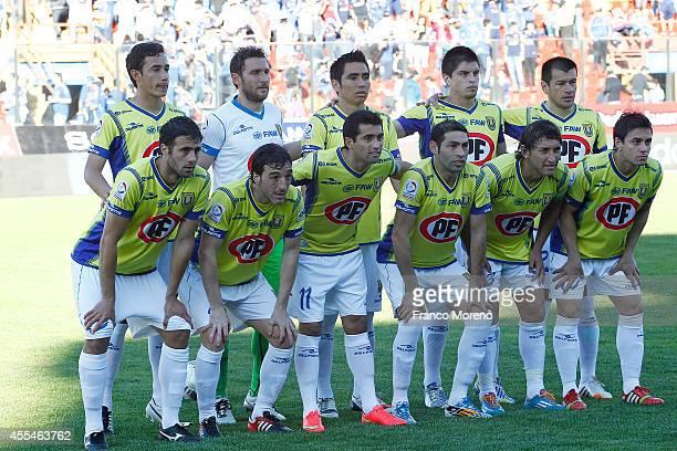 Players of U de Concepcion pose for a team photo prior to a match between U de Chile and U de Concepcion as part of eighth round of Torneo Apertura...