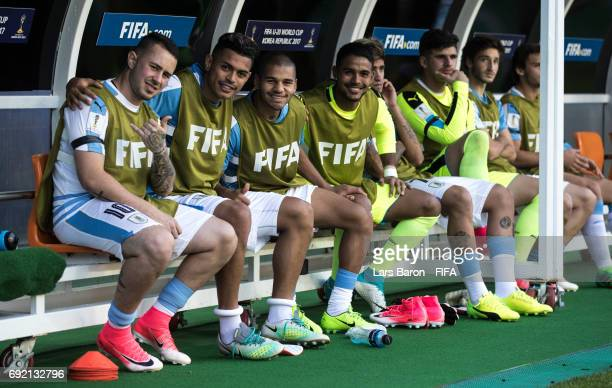 Players of Uruguay pose for a picture during the FIFA U20 World Cup Korea Republic 2017 Quarter Final match between Portugal and Uruguay at Daejeon...