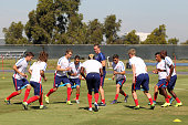 Players of USA warm up during a training session at UC Irvine on October 08 2015 in Pasadena United States